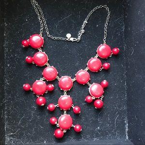Authentic J Crew red bubble necklace